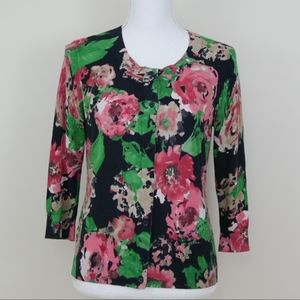 🔥3 for 20🔥 Talbots floral print cardigan